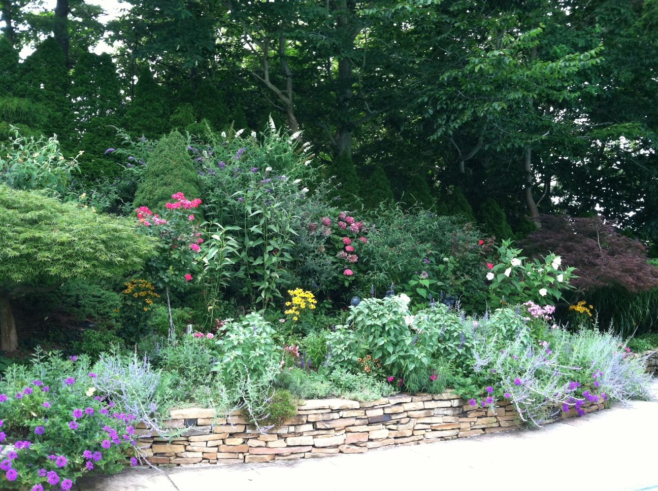 Landscaping Ideas For Backyard With Retaining Wall : More landscaping above retaining wall?  Backyard Ideas  Pinterest