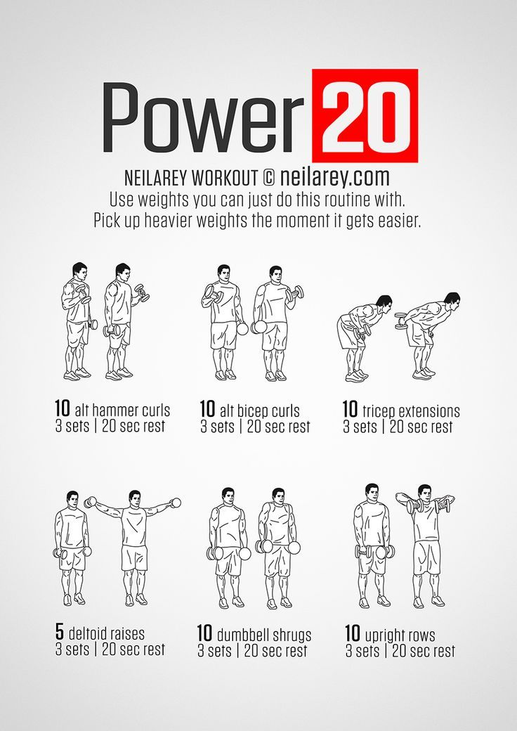Upper Body Workouts With Dumbbells