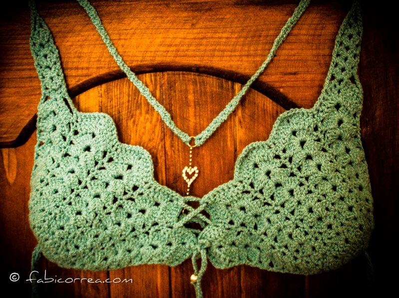 Crochet Bikini Top by fabi correa Crochet bikinis Pinterest