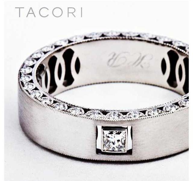 Tacori men39s wedding ringgorgeous jewelry pinterest for Tacori mens wedding rings