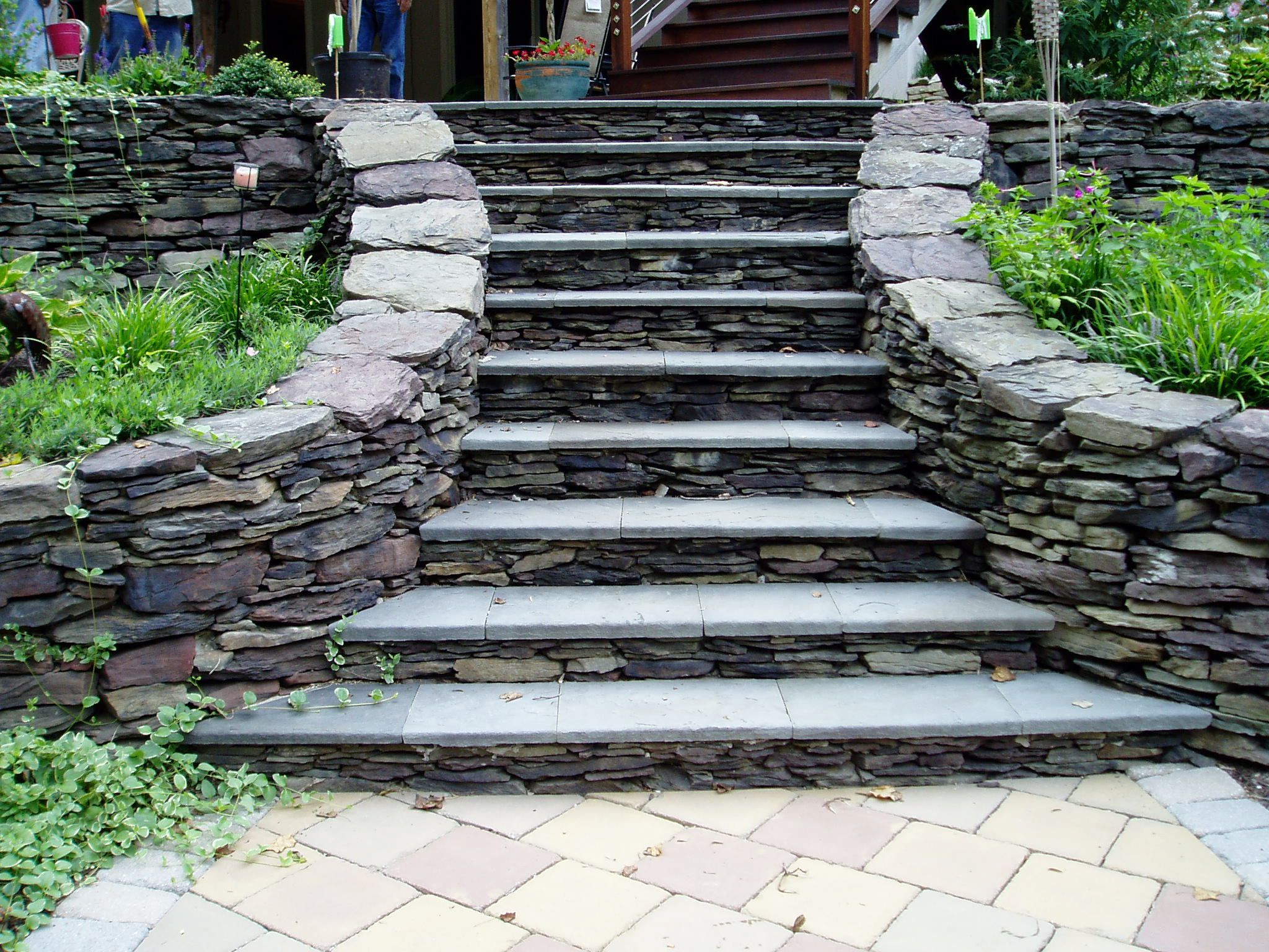 Stacked Stone Steps Walkways And Steps Pinterest