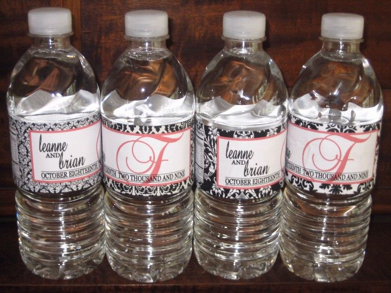 wedding water bottle labels craft ideas pinterest