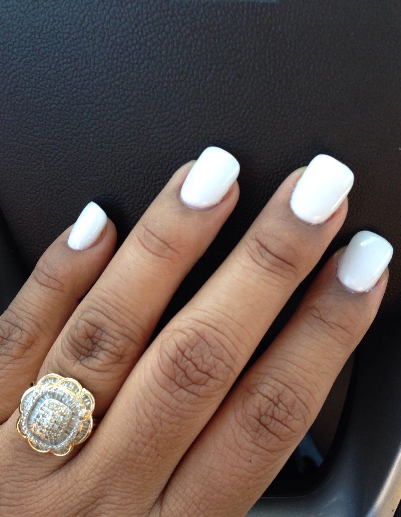 White Acrylic Nails #p...