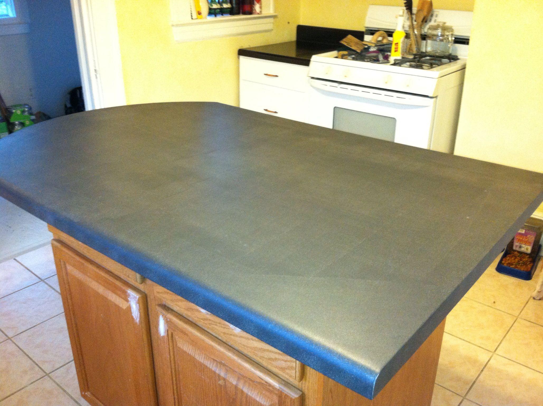 Chalk Paint Countertop First Coat repurposing Pinterest