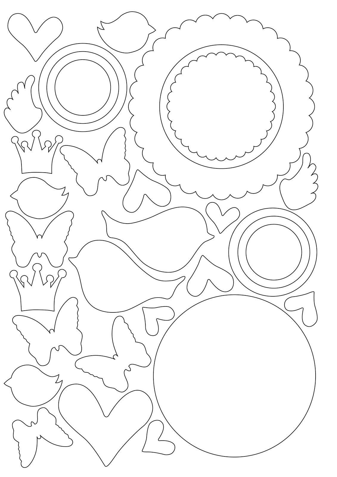 Шаблон для открыток скрапбукинг 587