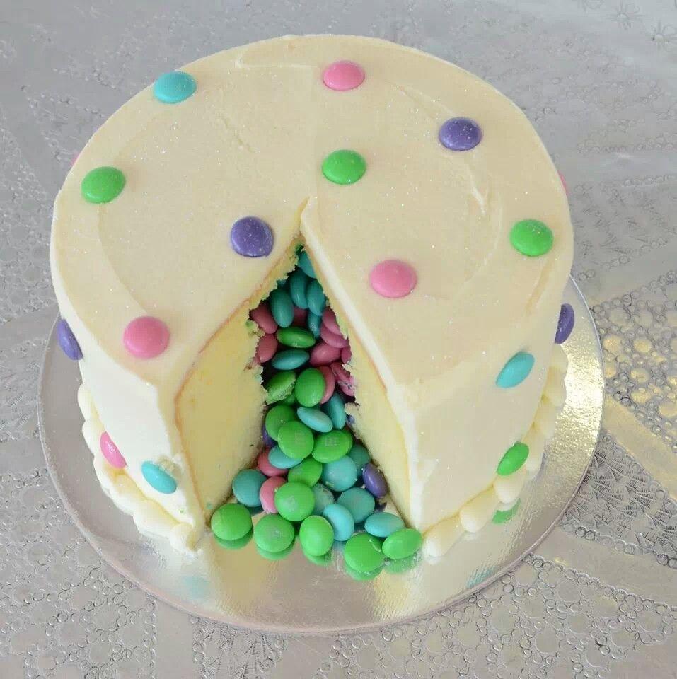 Cake Decorating Ideas With Smarties : Vanilla smarties cake Cakes Pinterest