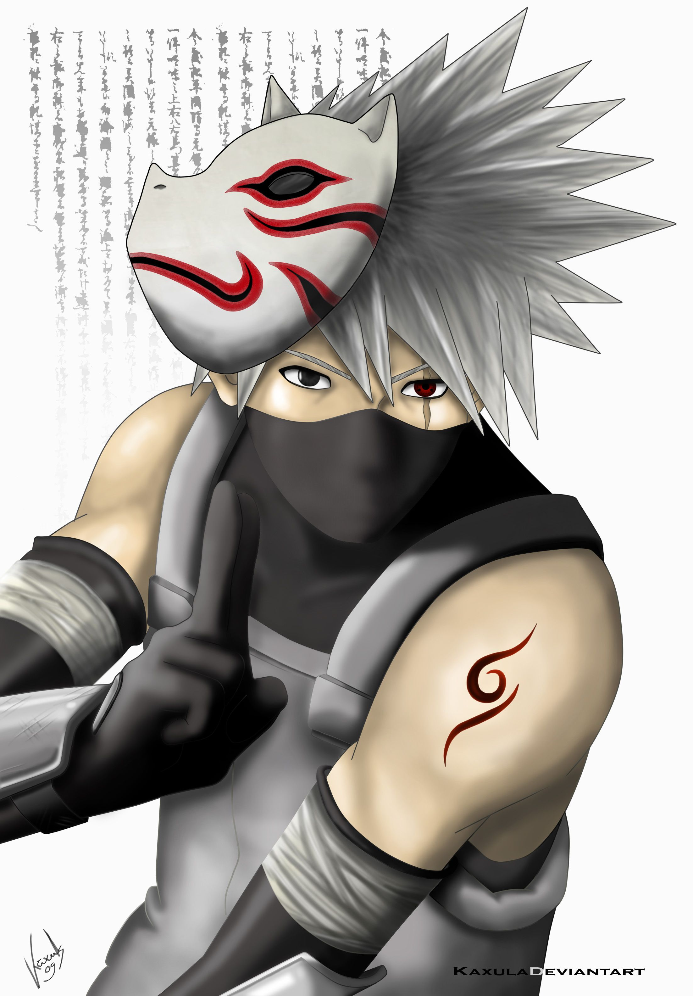 Naruto - Kakashi with Anbu mask | Anime | Pinterest