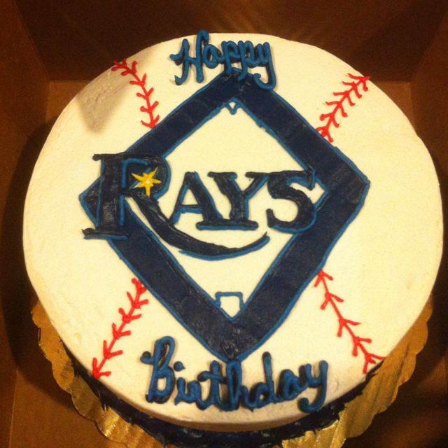 Tampa Bay Rays birthday cake :)  Great Things in pictures  Pinterest