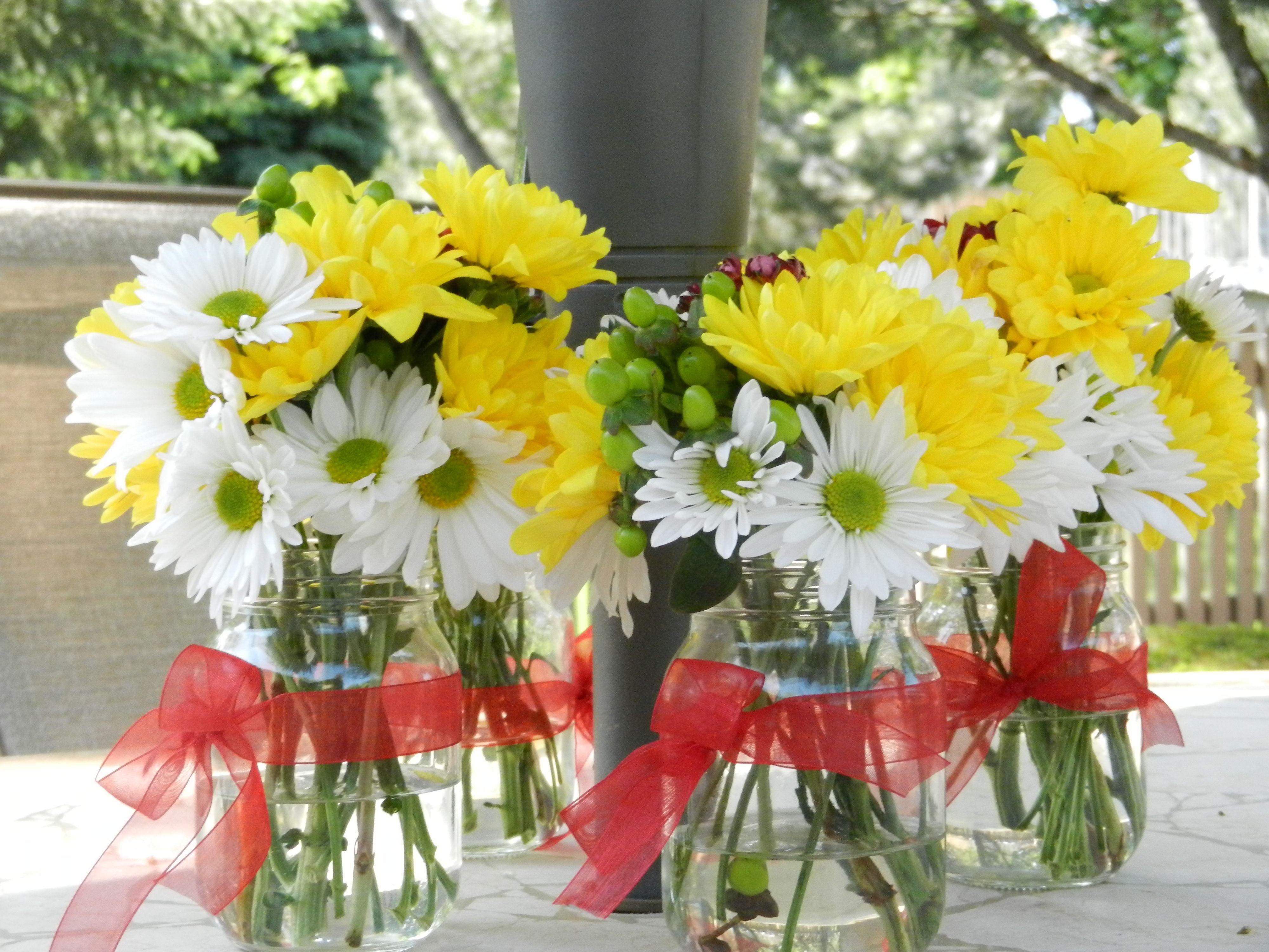 Mason jar flower arrangements car interior design for How to arrange flowers in mason jar