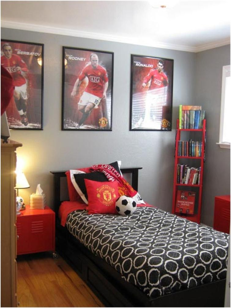 Great football room for boys kid s and teen 39 s room ideas for Boy football bedroom ideas