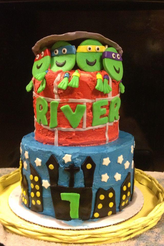 Ninja Turtle Birthday cake for Tristan  Cakes  Pinterest