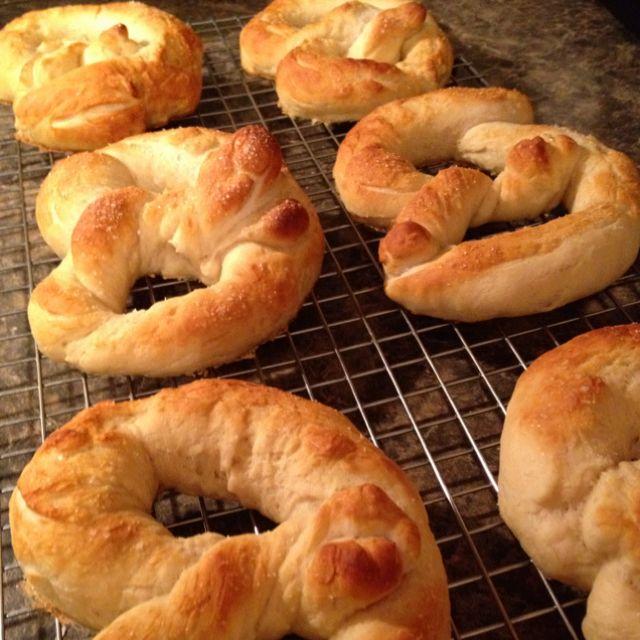 Homemade Pretzel Rolls   food   Pinterest