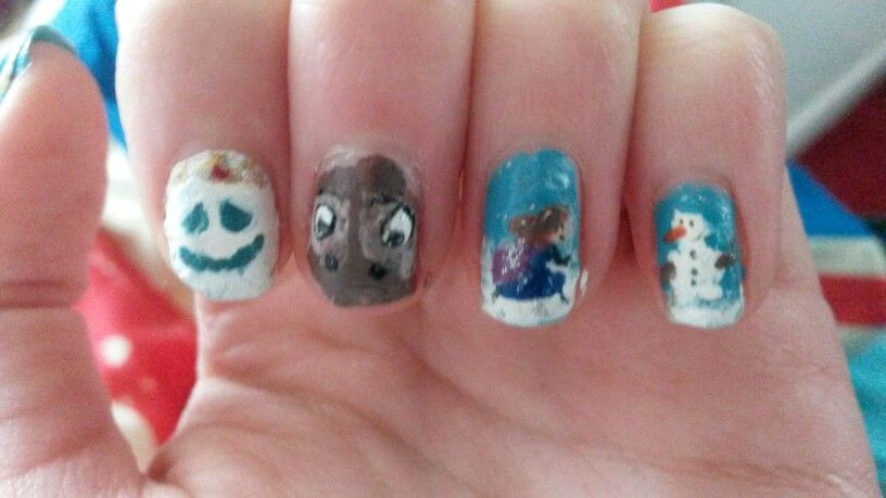 Frozen nail art prinsesfo Images