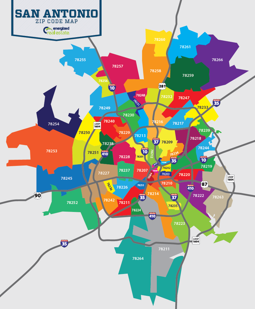 Zip Code Map San Antonio