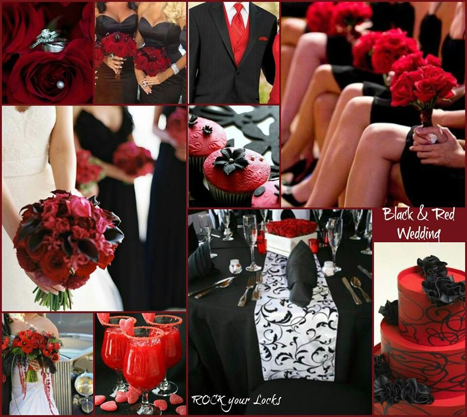 Red and black weddings wedding decor and ideas pinterest for What are wedding themes