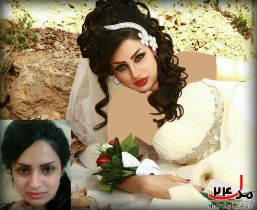 عکس ارایش وشنیون عروس