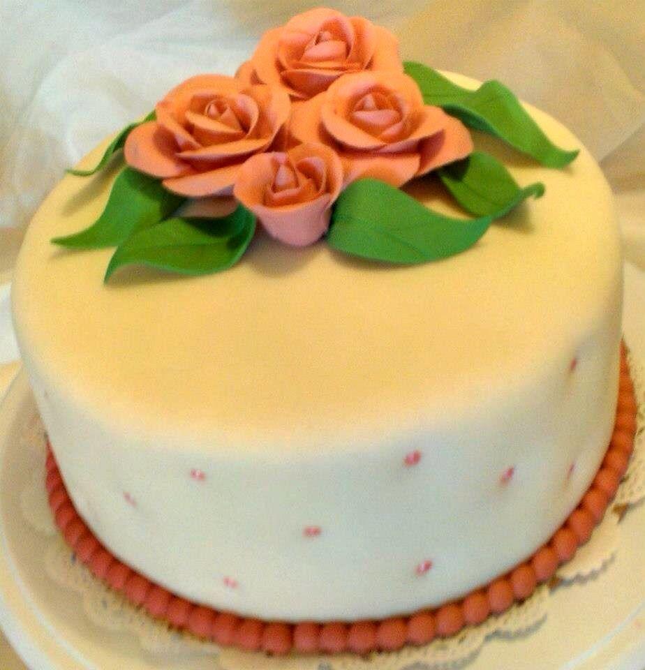 Cake With Roses Pinterest : Pink Rose Birthday Cake! Cakes I Made! Pinterest