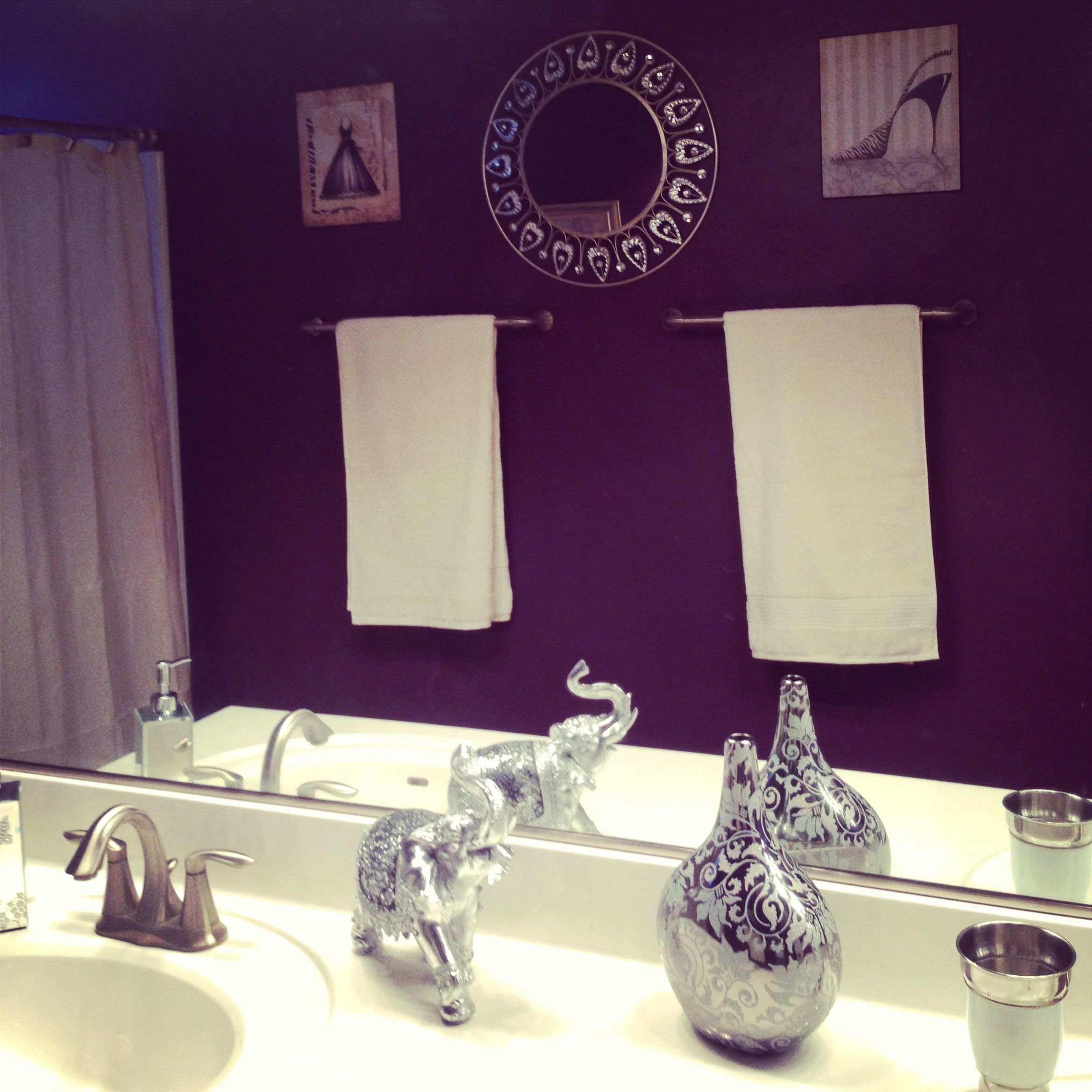 Purple Bathroom For The Home Pinterest