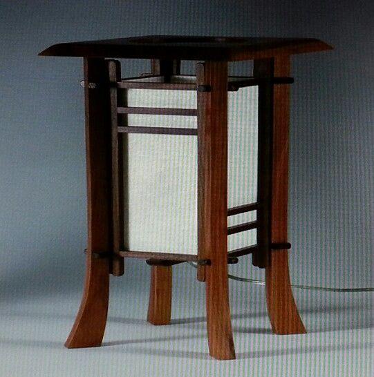 Japanese style table lamp | workshop | Pinterest