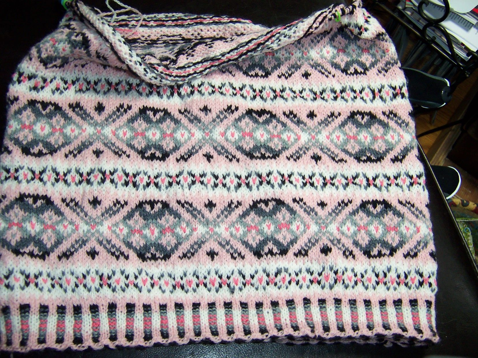 Knitted Baskets Free Patterns : Fair Isle baby blanket knitting projects Pinterest