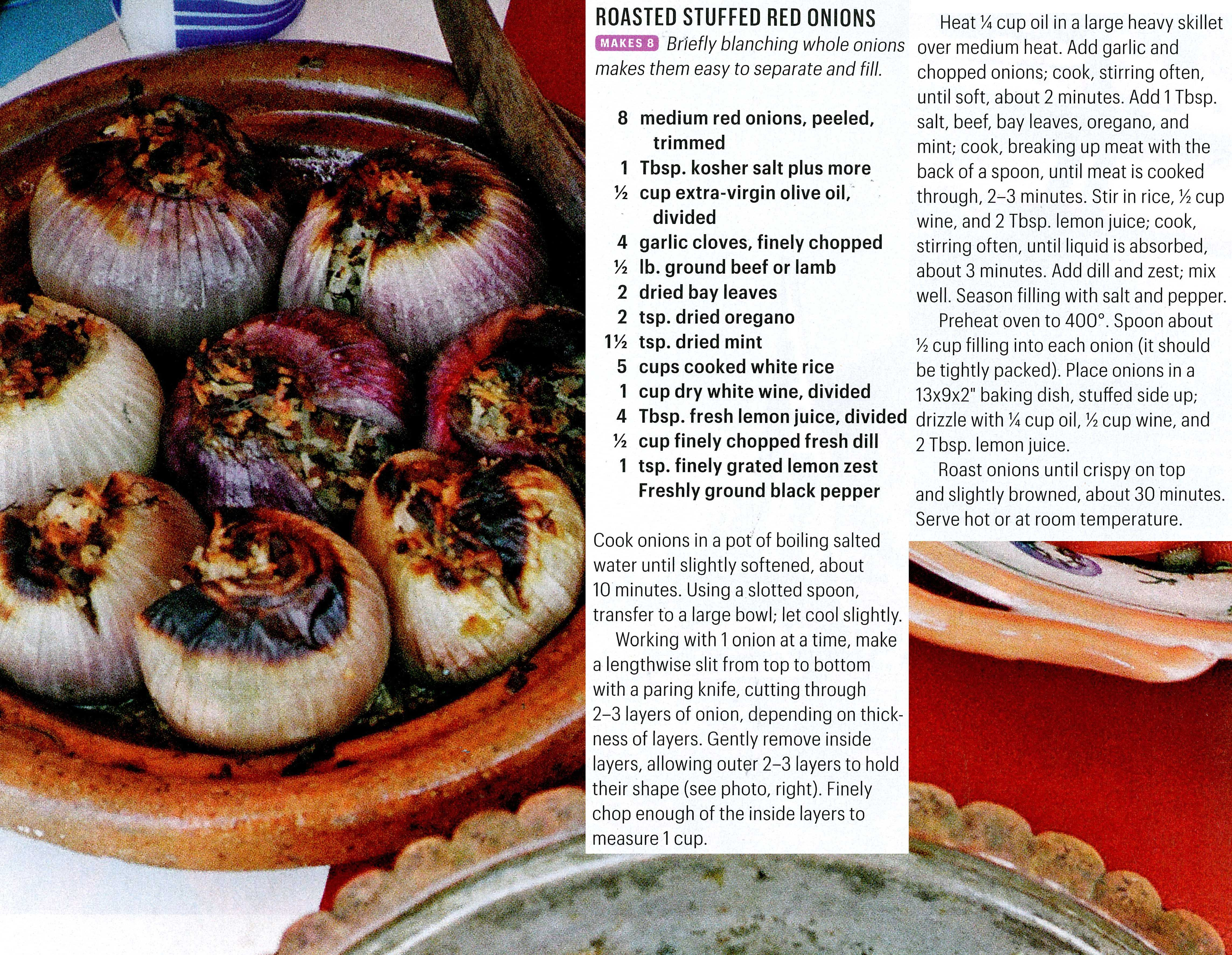 Roasted Stuffed Red Onions Recipe Dishmaps