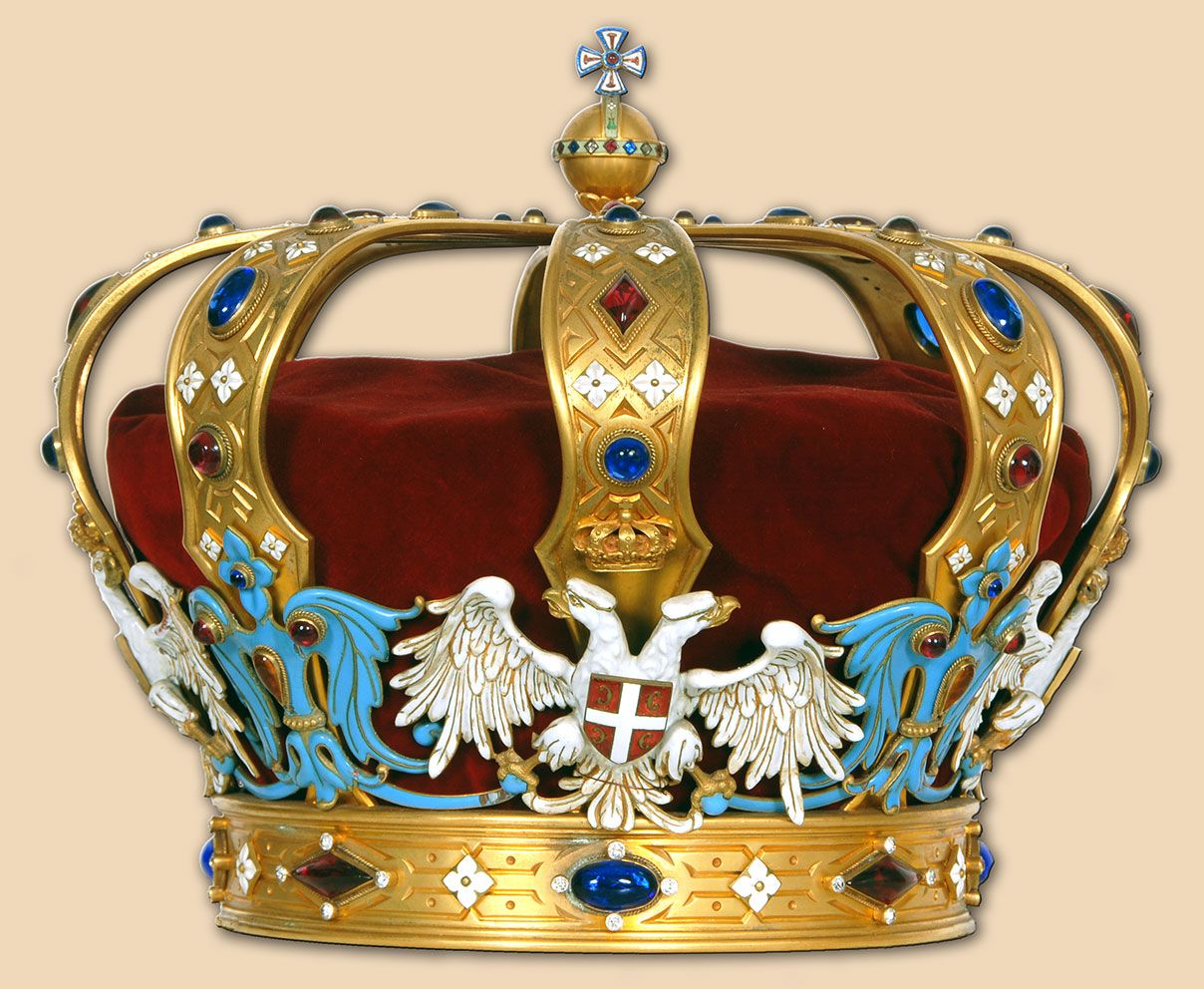 Kara or evi crown serbia yugoslavia regalia for King s fish house corona