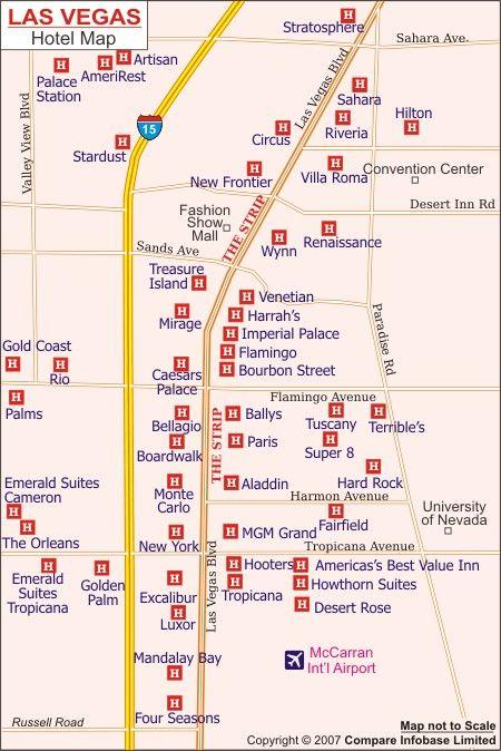 Map Of Vegas Hotels Us West Coast Road Trip 2013 Pinterest