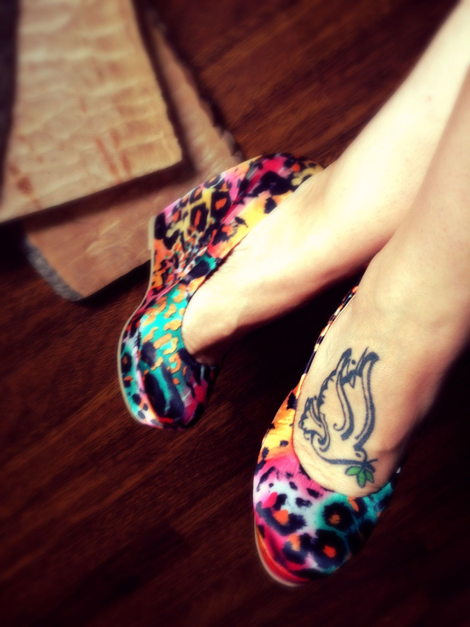 Foot tattoo care shoes