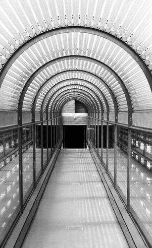 Hành lang tràn ngập ánh sáng tự nhiên trong công trình