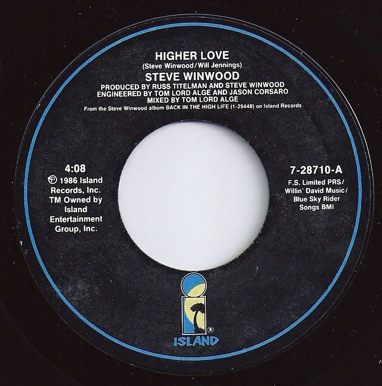 Higher Love ... Steve Winwood | Loved The 45's | Pinterest