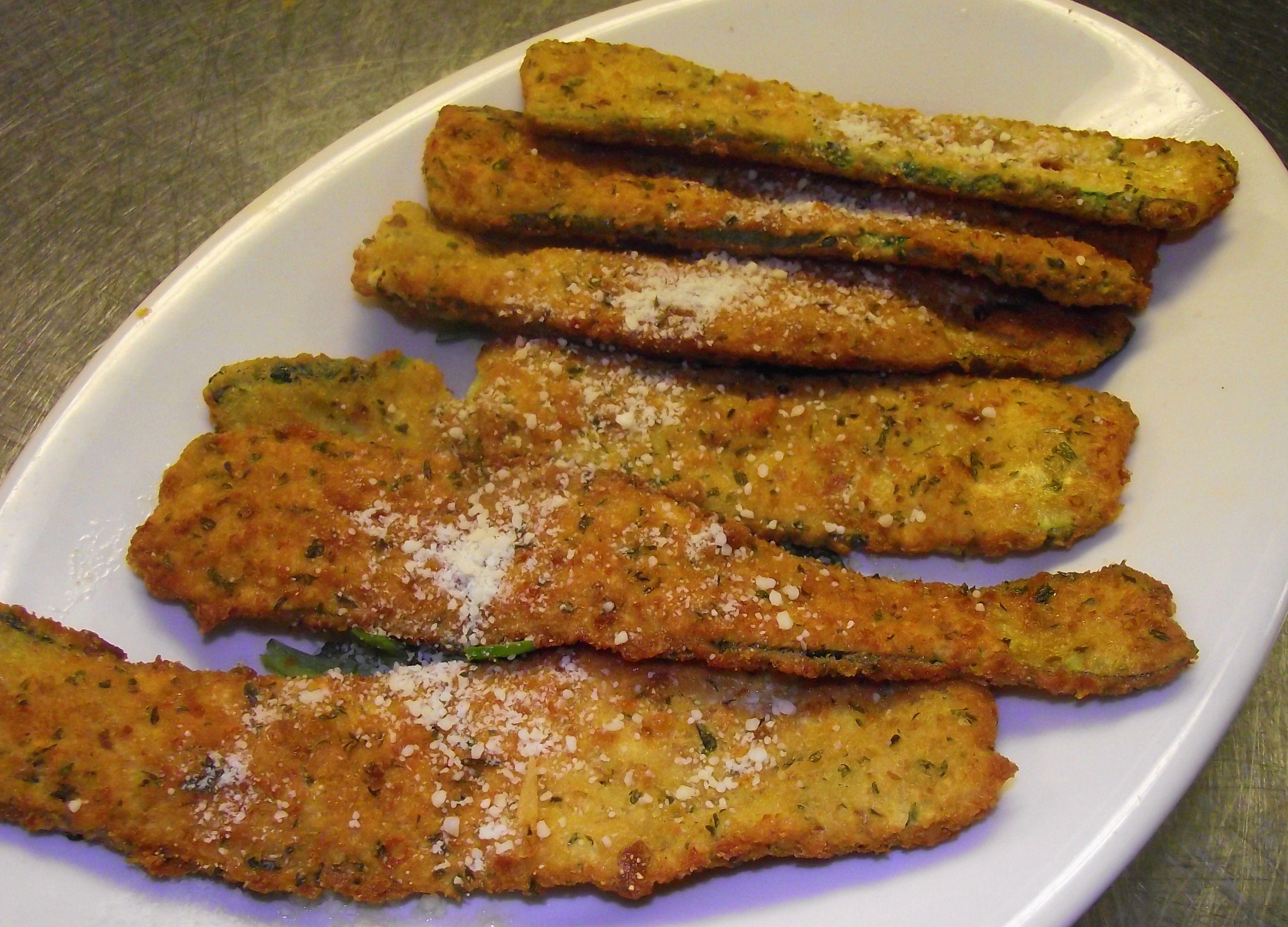 Breaded Zucchini Appetizer | appetizers | Pinterest