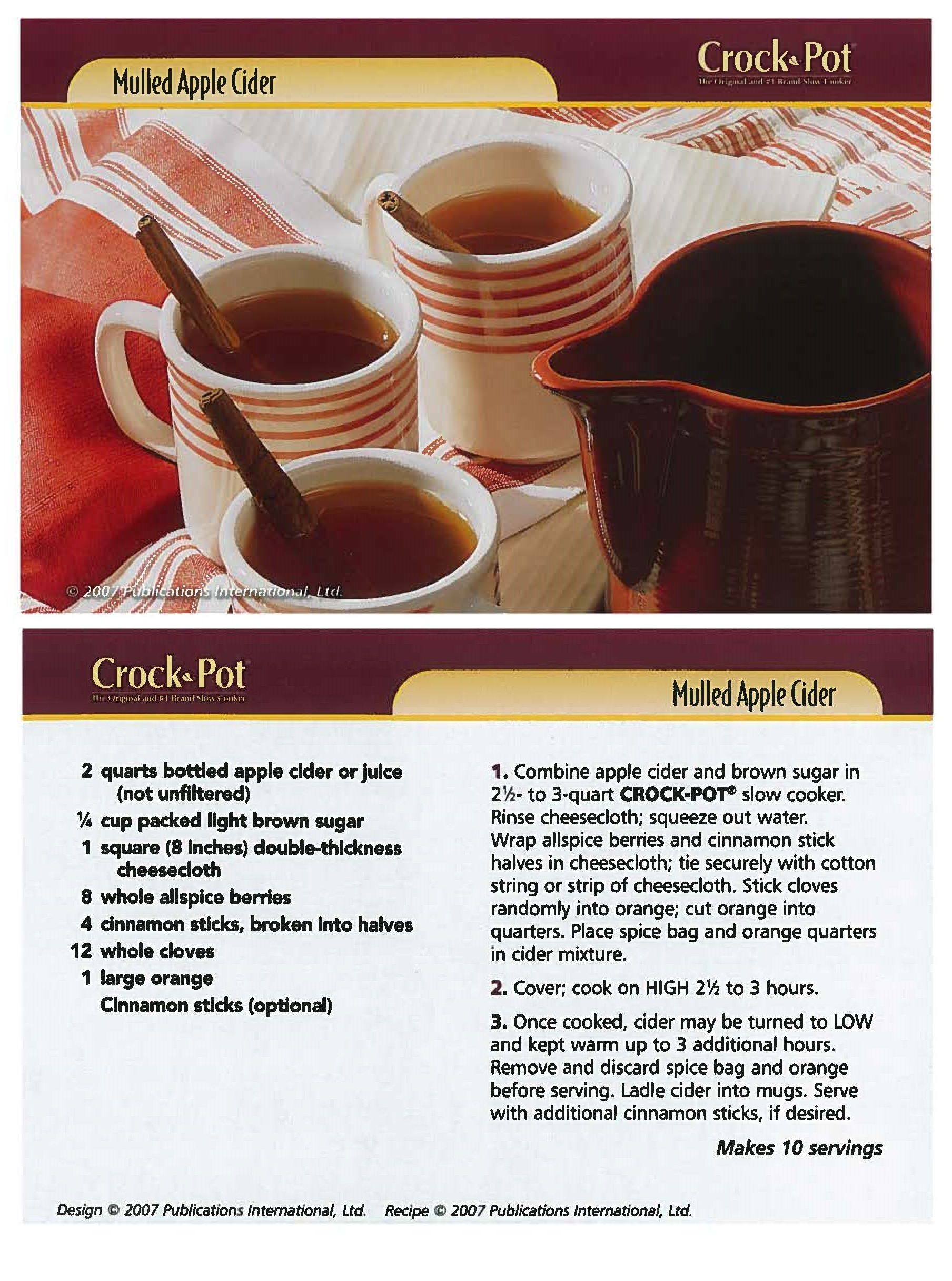 Mulled Apple Cider | Yummy...Sips | Pinterest