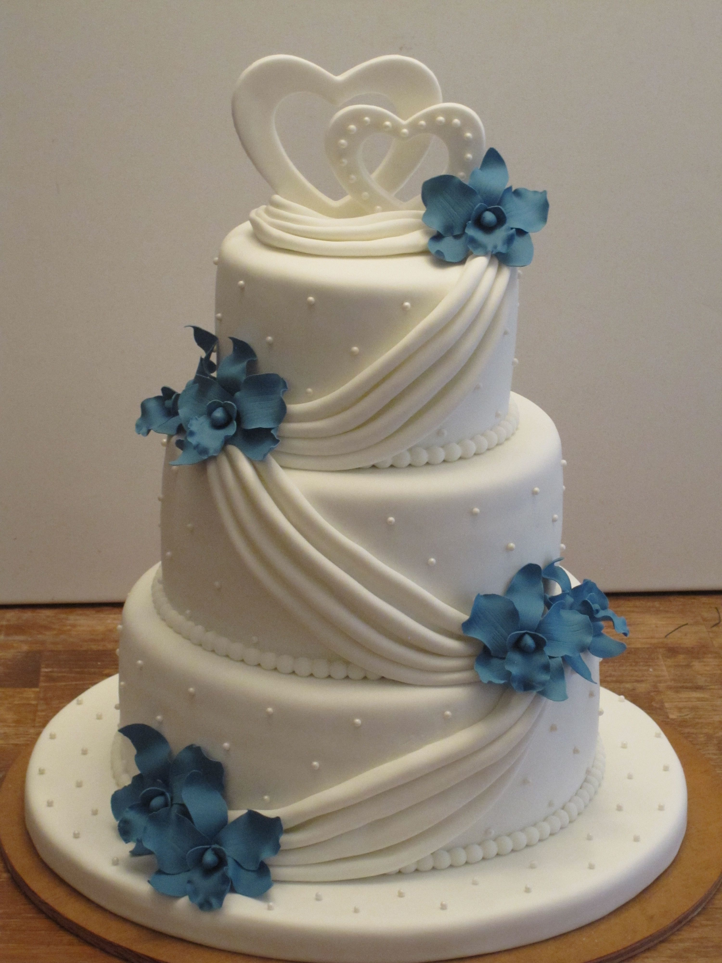 Blue Orchid Wedding Cake Blue orchid wedding