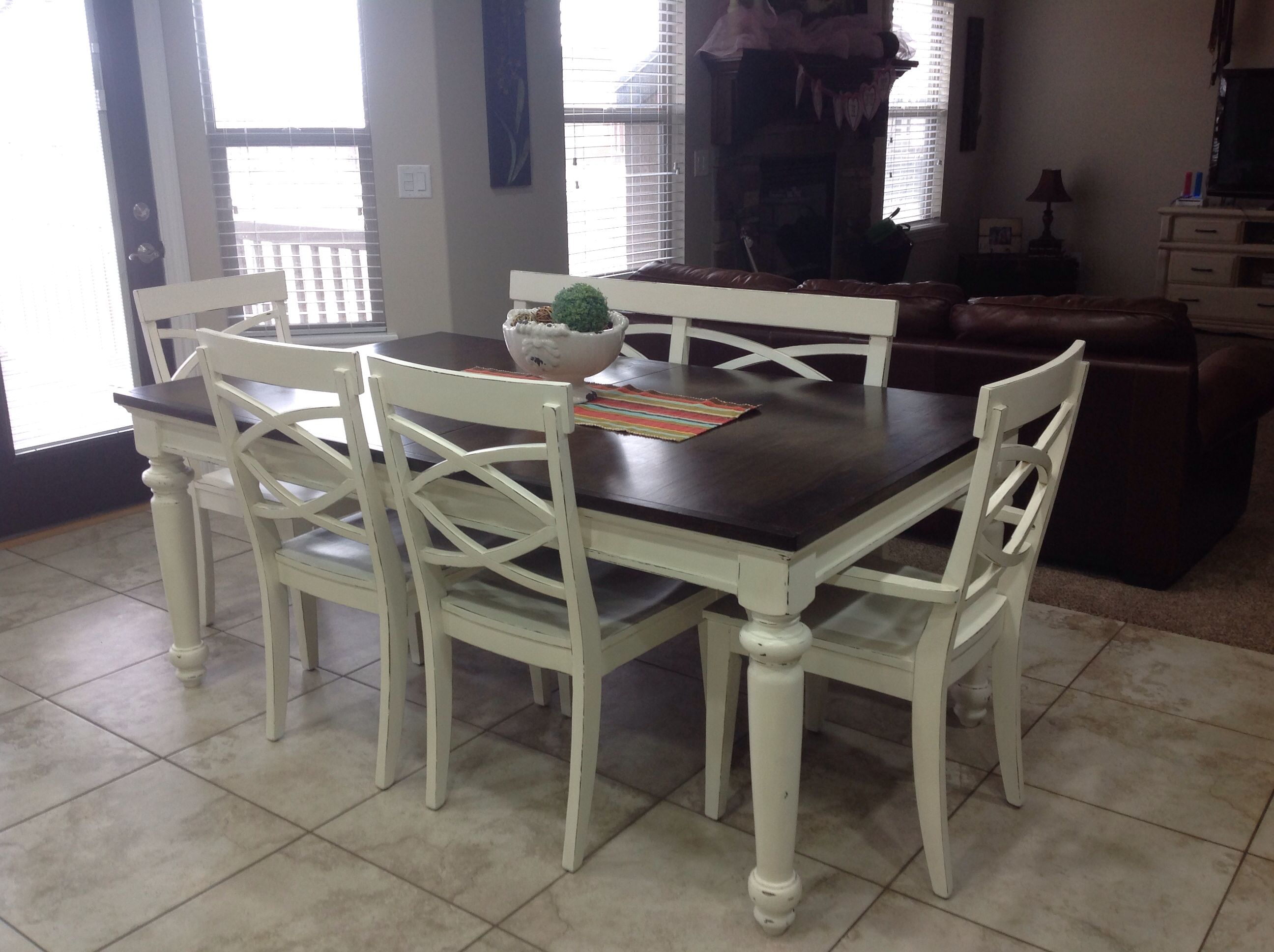 How to refinish a kitchen table how to refinish a table sand and sisal hometalk how to - Refinished kitchen tables ...