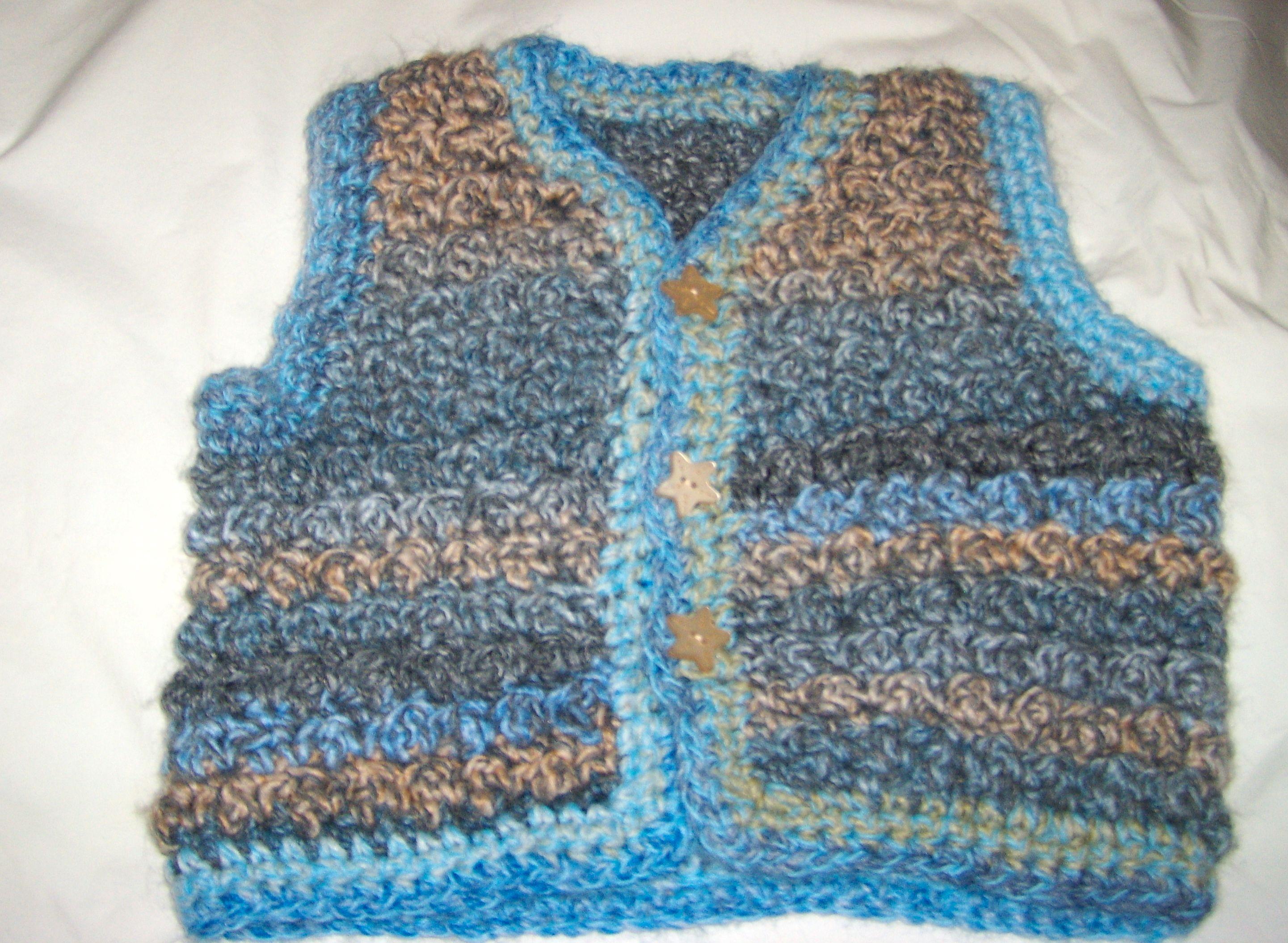Crochet Baby Waistcoat Pattern : Crochet Bobble Baby Vest Crochet Pattern Pinterest