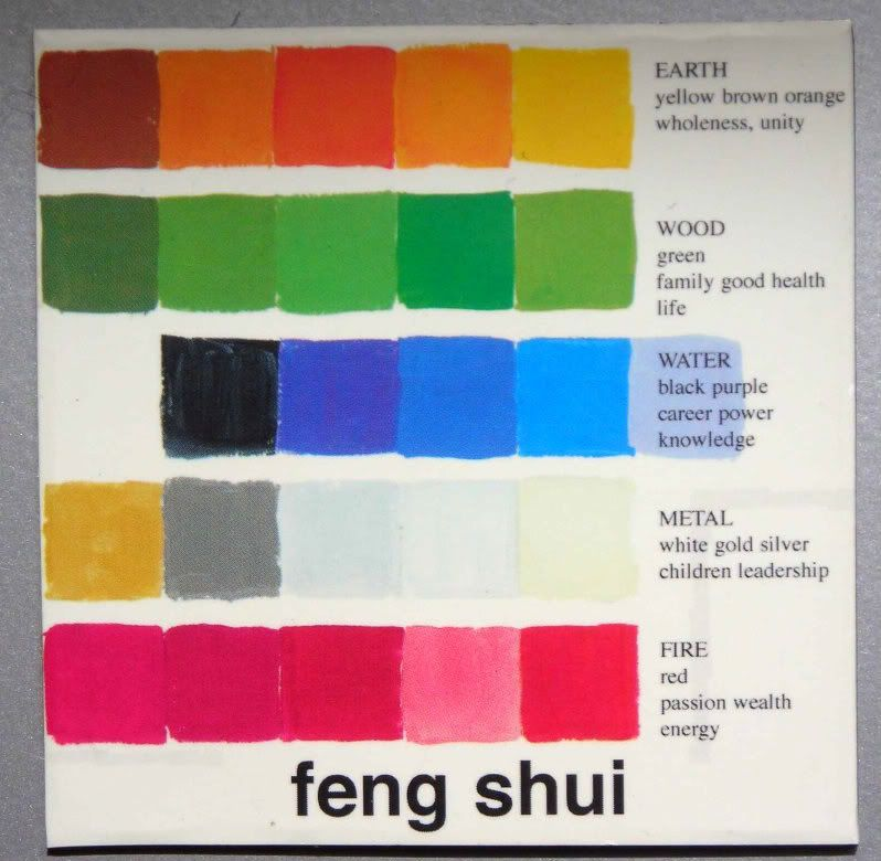 feng shui color by the elements lifestyle feng shui