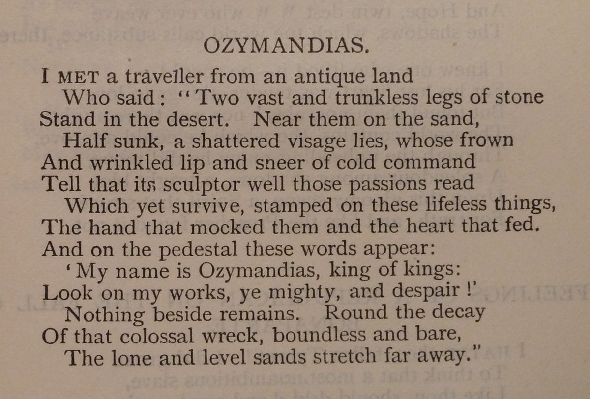 ozymandias king of nothing essay