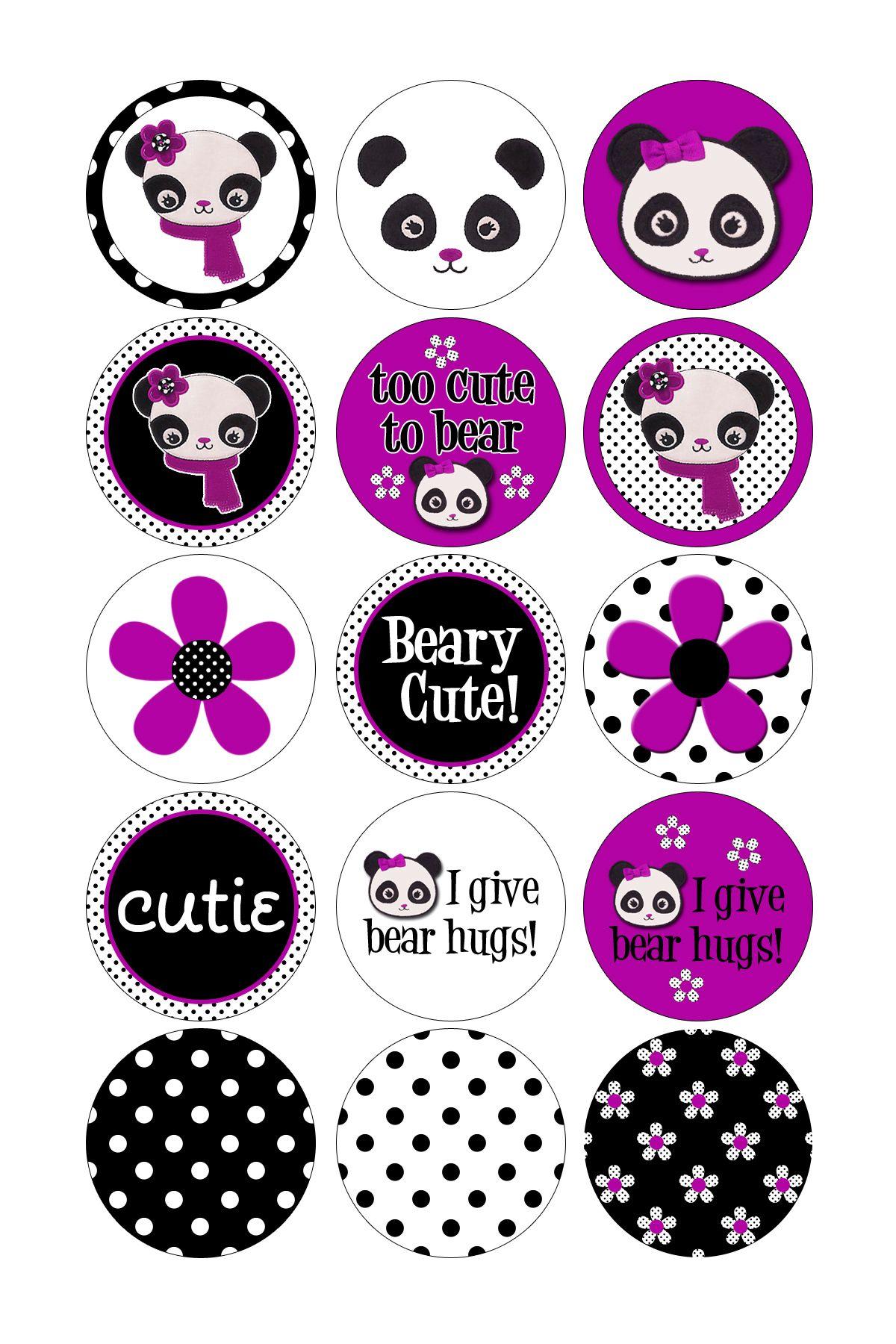 Panda bottle cap designs bottle cap images pinterest for Bottle cap designs
