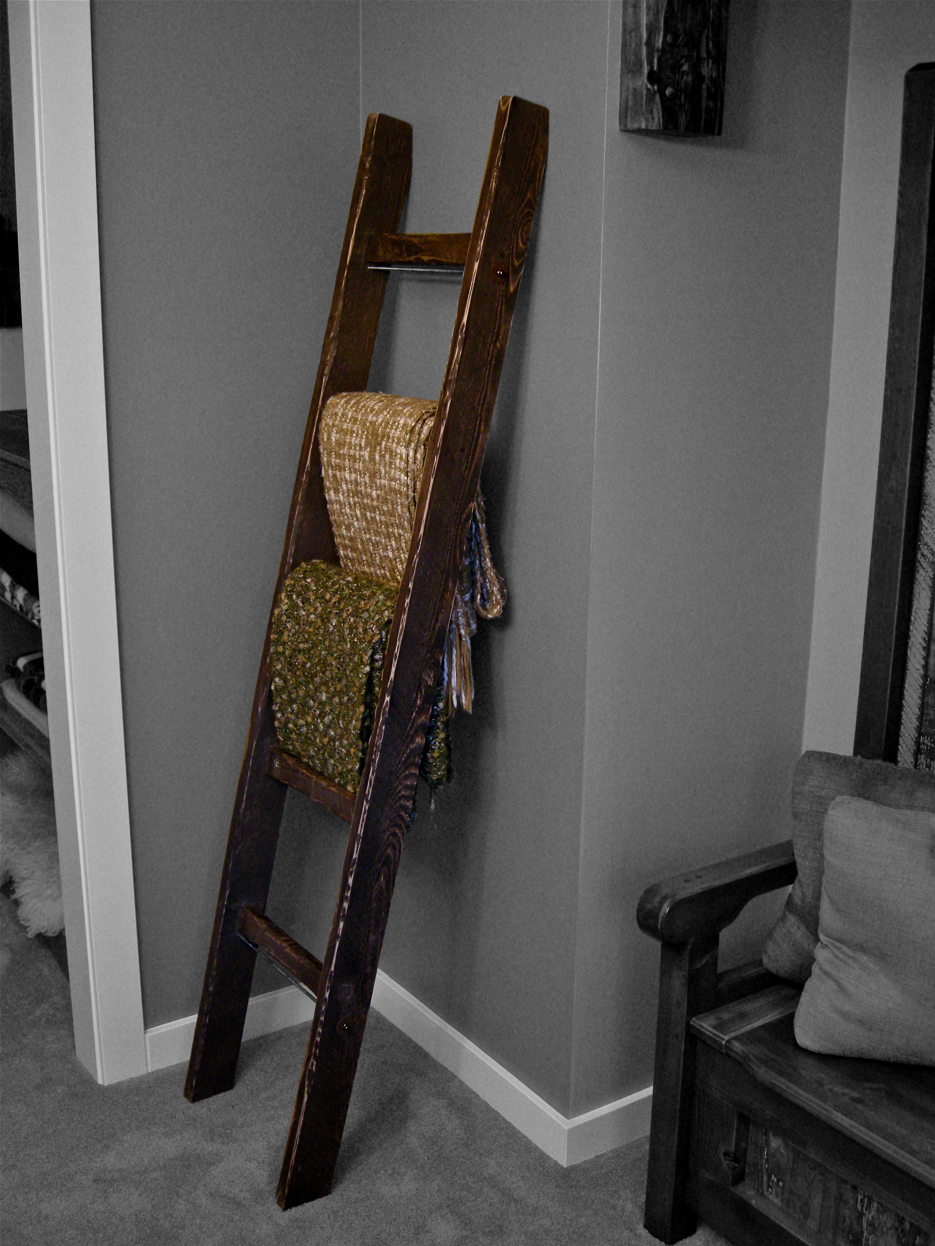 Blanket ladder home decor pinterest
