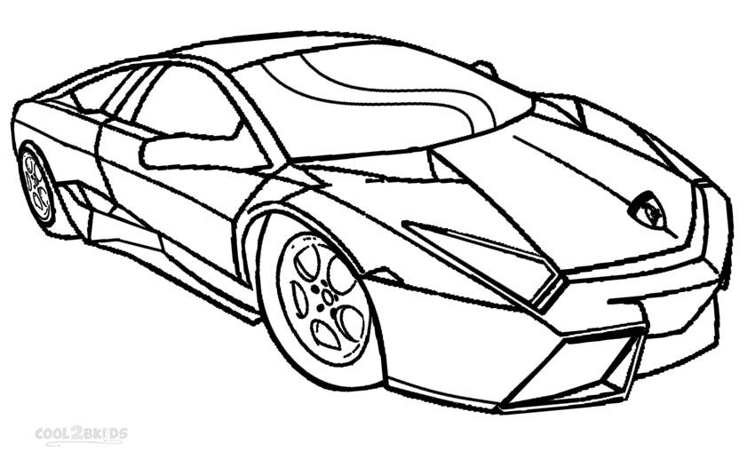 Printable Coloring Pages Lamborghini  Printable Editable Blank