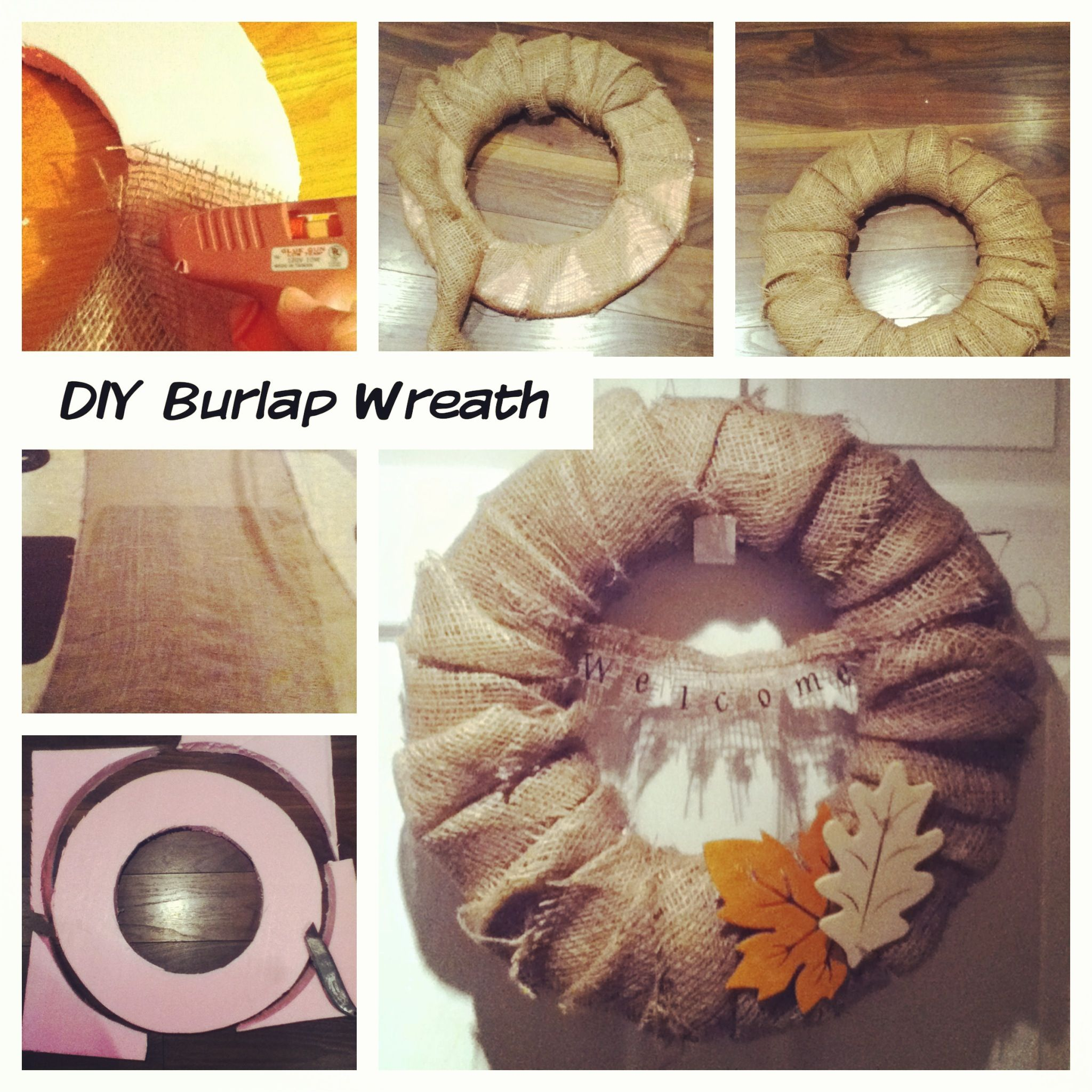 Burlap wreath diy crafts projects i d like to try pinterest