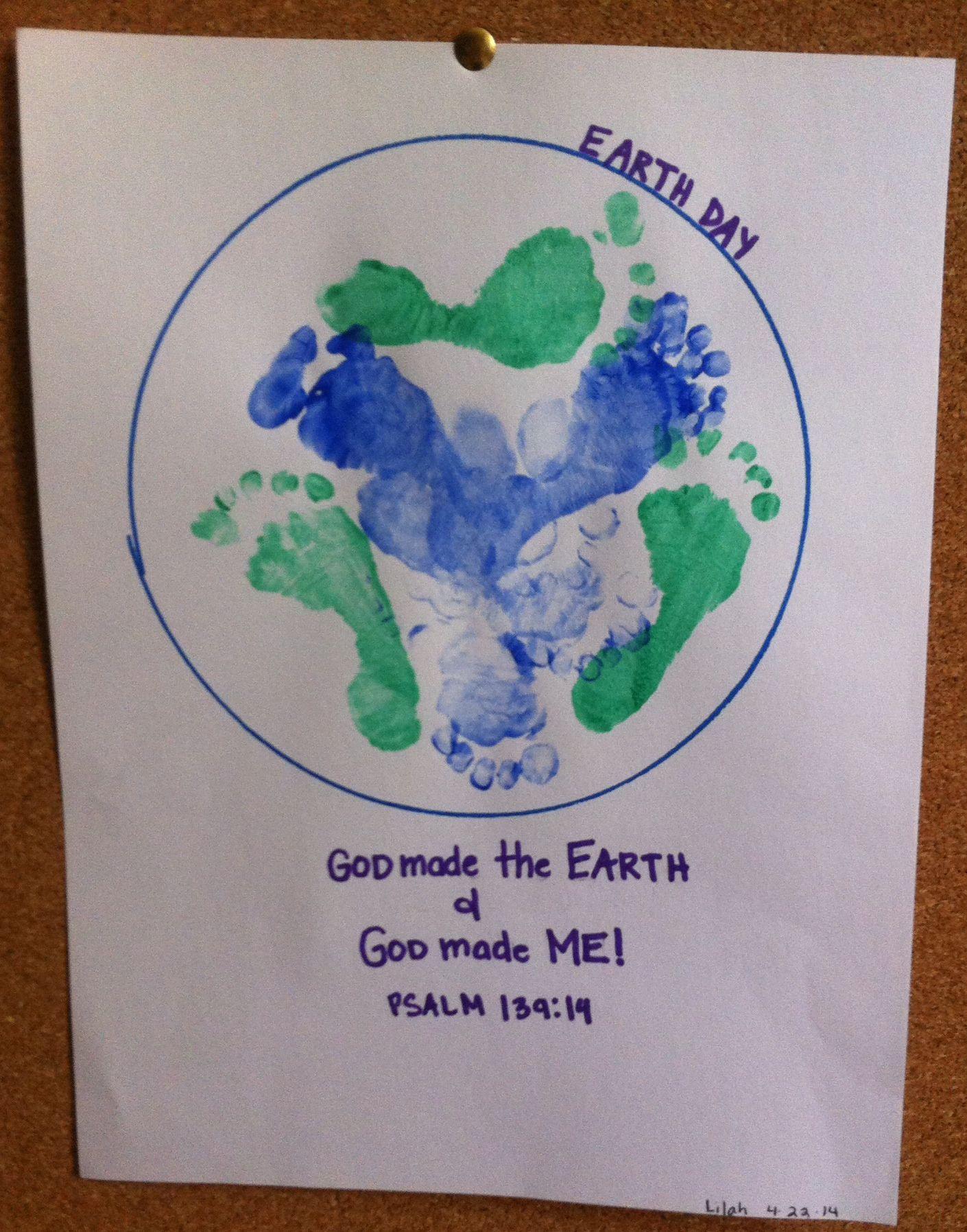 Earth day footprint craft crafts diy pinterest for World of war craft com