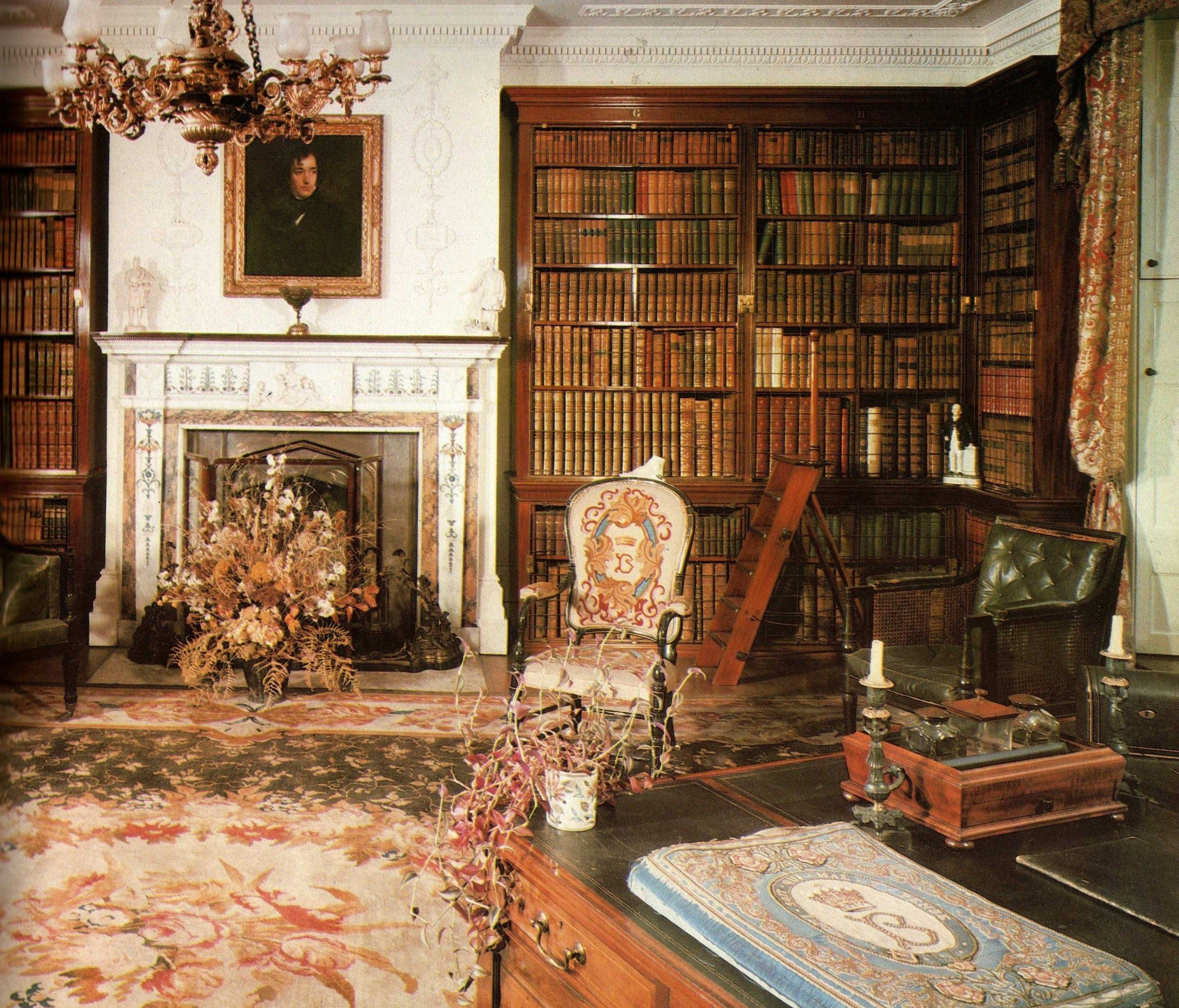 Pin by cathy part on decor english country cottage manor for English library decor
