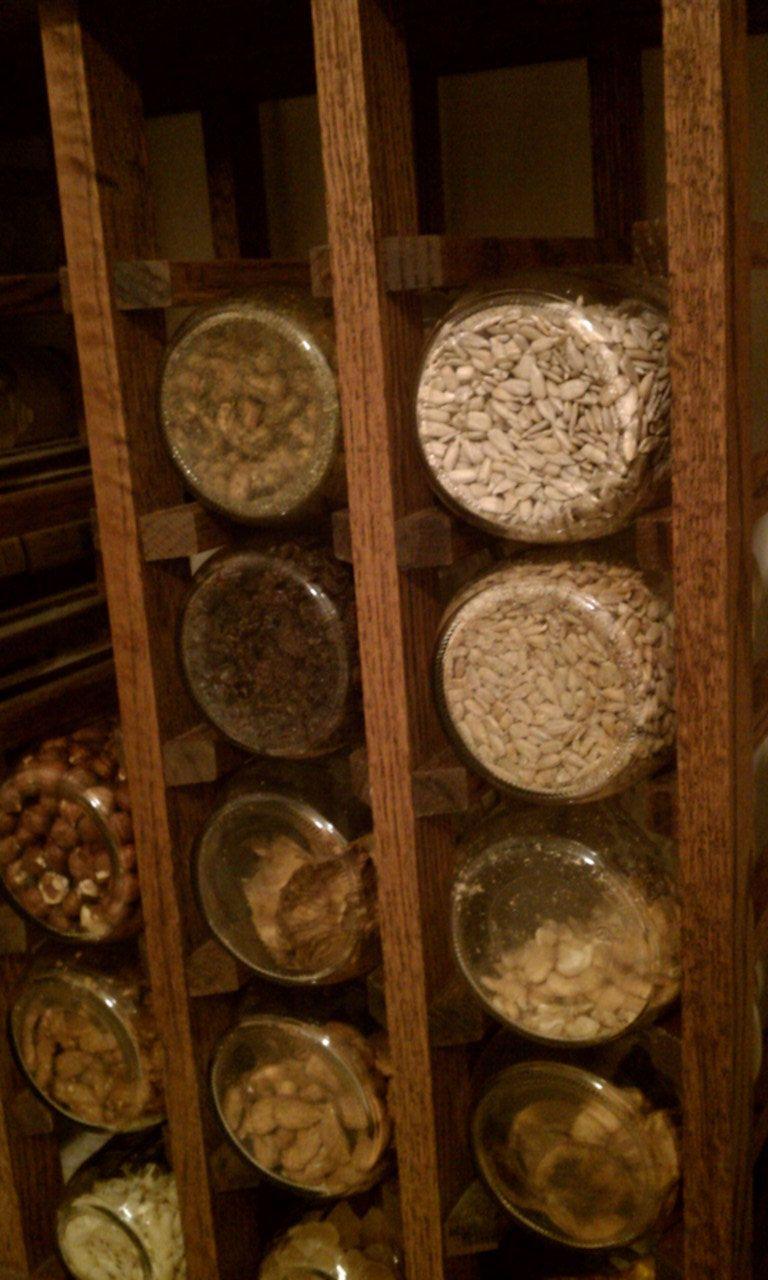 Mason jar storage idea food preservation pinterest for Mason jar holder ideas