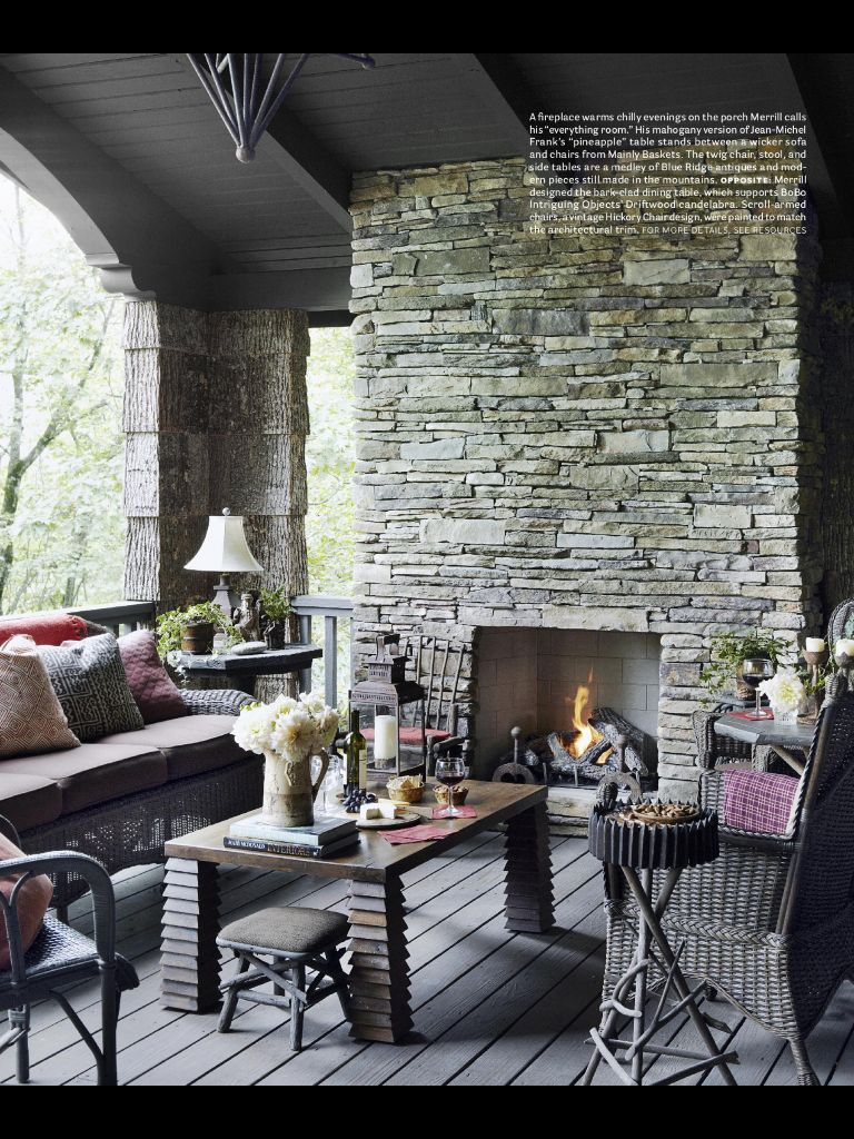 Stacked Stone Fireplace Fireplaces Pinterest