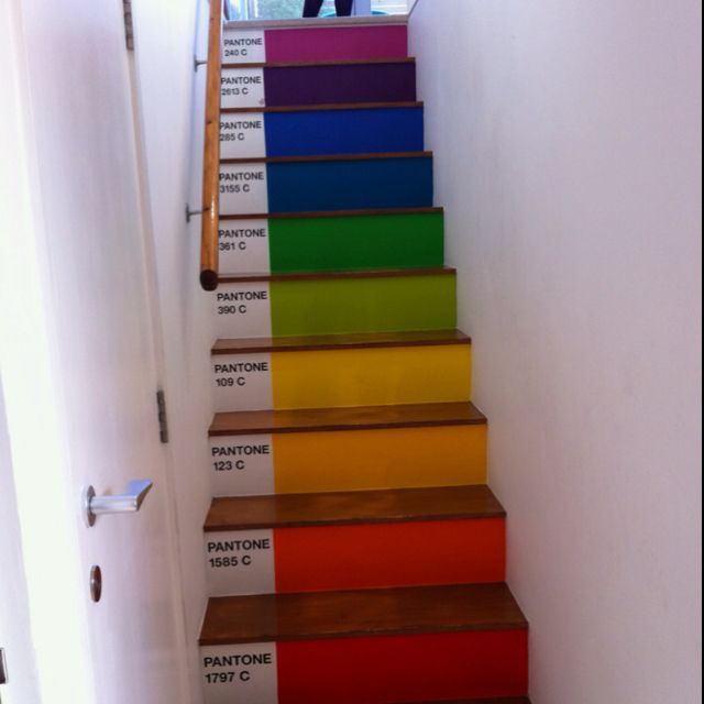 Pantone painted stairs...cool | for our HOME. | Pinterest