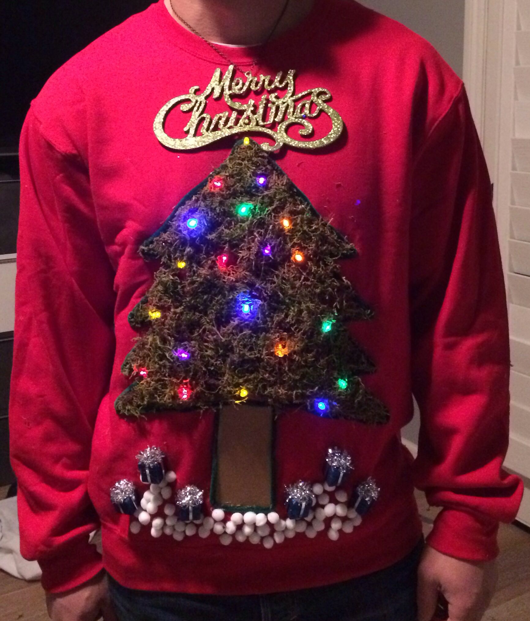 How to make a light up christmas sweater