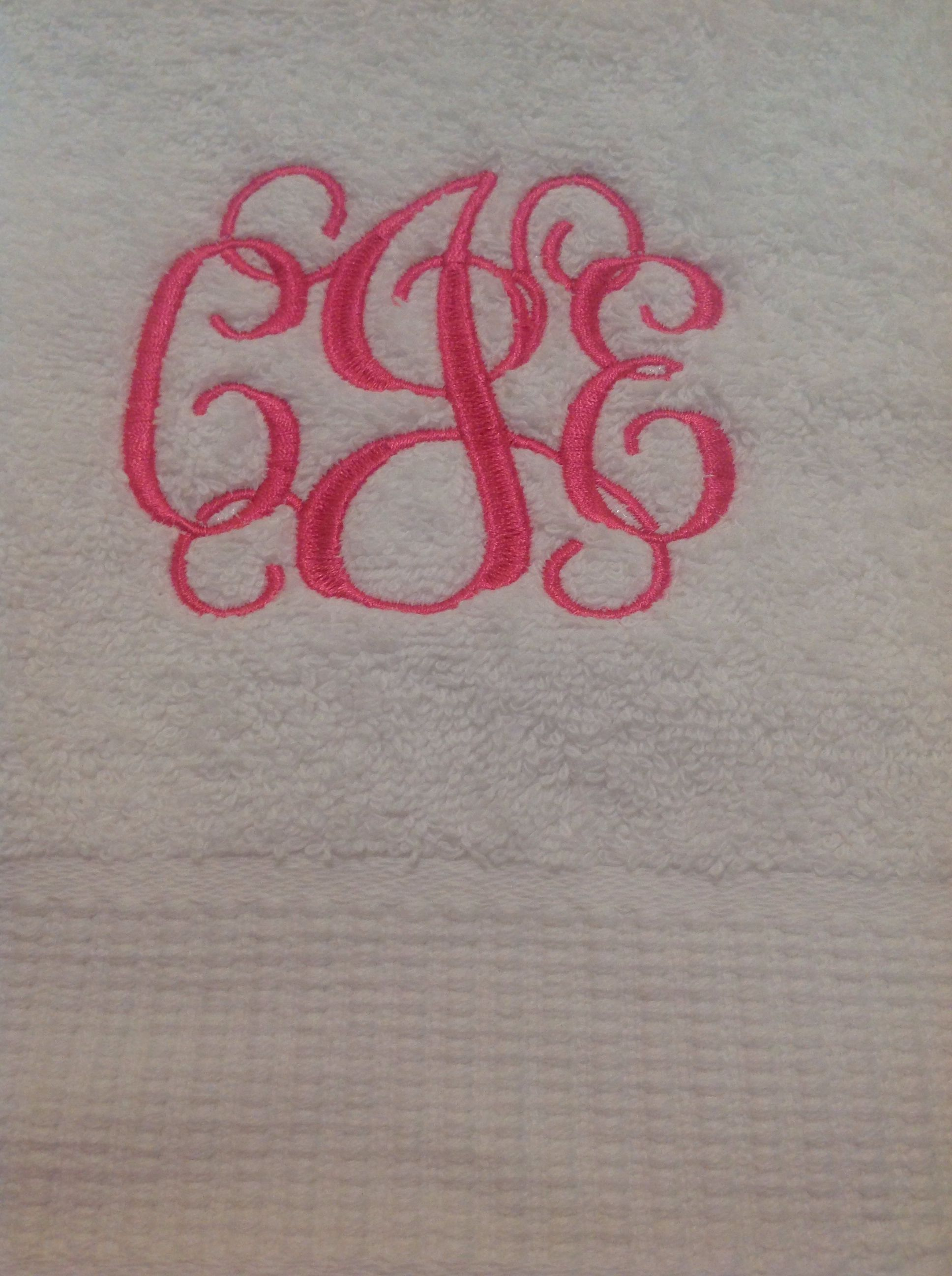 Popular embroidery monograms for towels makaroka