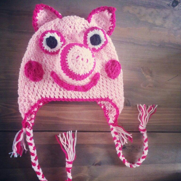 Crochet Pattern Pig Hat : Crochet hat Crochet Pinterest