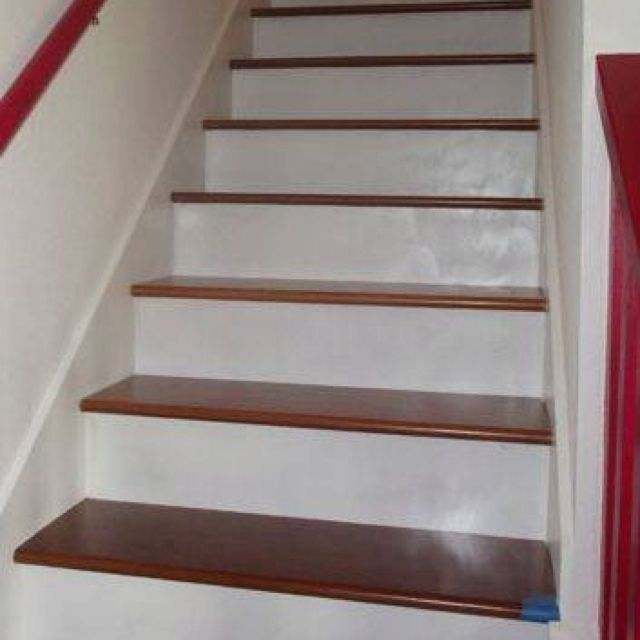 Painted stair risers for the home pinterest for Painted stair treads